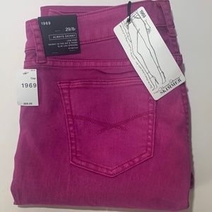 GAP 1969 always skinny purple jeans 29/8R NWT